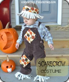 Embracing Life's Journey: Easy toddler scarecrow costume holiday, idea, costumes, halloween fun, fall, babi, toddler scarecrow costume, kid, easi toddler