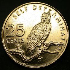 1977 Guyana 25 Cent EAGLE Coin SCARCE SELF DETERMINATION Coin! RARE GEM