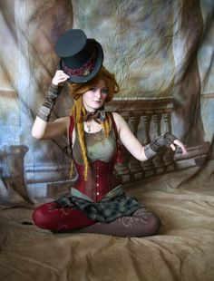 circus doll, steampunk fashion, style, corset, steam punk