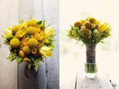 Żółty bukiet ślubny