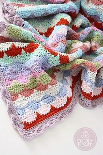 Clamshell Blanket- FREE pattern - adore this quilt-inspired design! :D