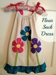 Flour Sack Towel Dress Tutorial... super cute and easy!