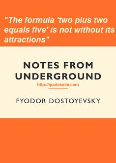 dostoevsky notes from underground essay Free essay on notes from underground available totally free at echeatcom, the largest free essay community.