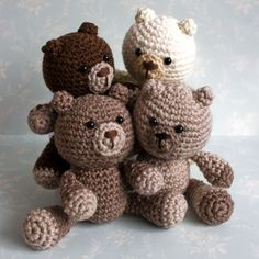 Amigurumi Brown Bears