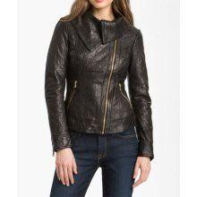 black/brown leather