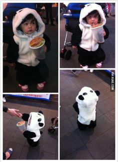 panda, kid