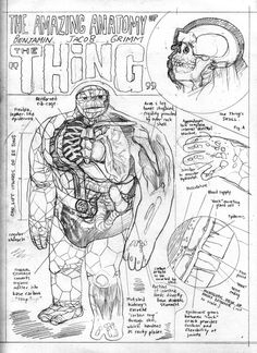 The Amazing Anatomy of The Thing by Ulises Farinas