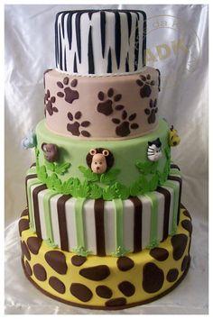 Cake de selva y safari