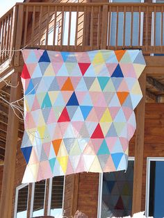 Isosceles Picnic Quilt with handles/carrier