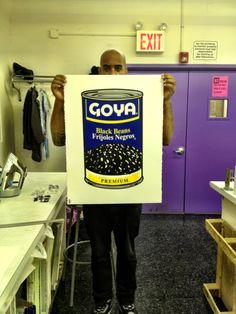 """Si es Goya, tiene que ser bueno.  22"""" x 28"""" 4 Color """"GOYA"""" Print on paper."""