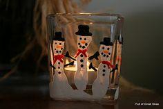 Preschool Christmas parent gift... Handprint candle holder