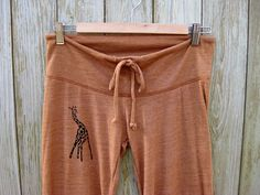long winded Giraffe Yoga Pants in Terracotta by nicandthenewfie, $28.00