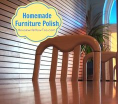 Homemade Furniture Polish - Housewife How-To's® Cleanses, Diy Clean, Homemad Furnitur, Homemade Furniture, Crazi Diy, Clean Natur, Polish Recipes, Furnitur Polish, Clean Product