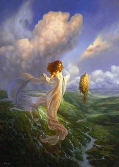 This is Christophe Vasher's Lady of the Winds. Found on Google images