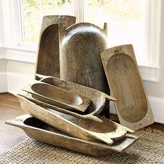 Found European Dough Bowls