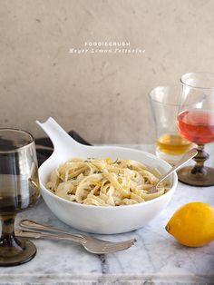 Meyer Lemon Fettuccine    FoodieCrush