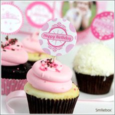 Free Printable Princess Party Circles/Cupcake Toppers by Smilebox