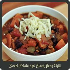 black bean, sweet potato, bean chili