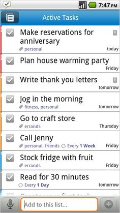 If you are like me and have a million things to do in one day. This will help you and it syncs with Google Tasks.
