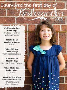 kindergarten scrapbook ideas, school scrapbook, first day of school interview, interview question, 1st day of school ideas