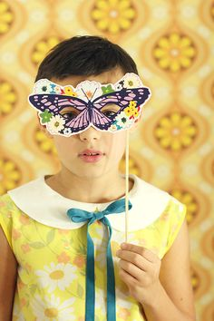 Kitschy Digitals :: Printables :: Butterfly Masks Printable