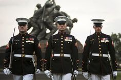 Marines perform during a Sunset Parade at the Marine Corps War Memorial in Arlington, Va. (U.S. Marine Corps photo by Lance Cpl. Dan Hosack/Released) US Marine Corps Help celebrate a great career in the US Marine Corps Personalized custom Military rings : http://www.military-rings.com  #USMC #USMarines #USMilitary