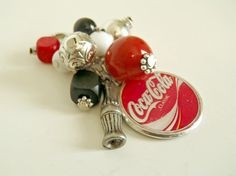 Coca Cola Coke Classic Chunky Bead Changeable Red by AJewelryJar, 12.00