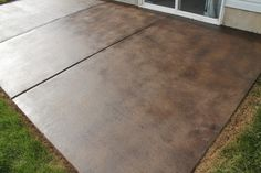 front gardens, how to stain concrete patio, stained concrete, front yards, backyard