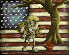 We Go Forward Together - Limited edition giclee on paper from Fabio #Napoleoni #Marcenivo #patriotic