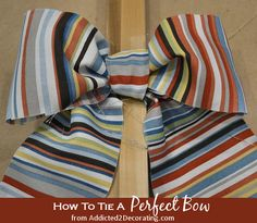How to tie a perfect bow...one simple trick every crafter should know!
