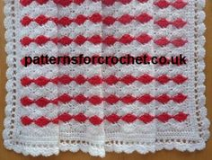 FREE Cherry Sparkle Pram Blanket from http://www.patternsforcrochet.co.uk/pram-blanket-usa.html #patternsforcrochet #freecrochetpatterns