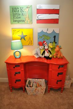Dr. Seuss Nursery. I love how they  made their own wording with the ABC book
