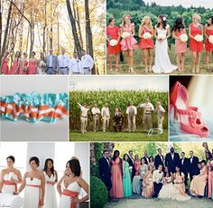 Turquoise and Coral for wedding colors. :)