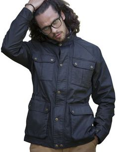 Vedoneire Mens Wax Jacket in brown or black. Price £99.99 #Vedoneire #Fashion #Menswear