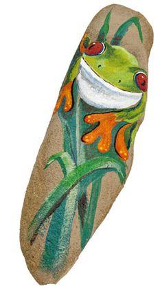 Tree Frog on A Rock project from DecoArt