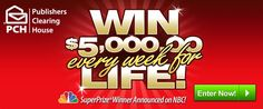 Publishers Clearing House Win $5000 Every Week For Life - sign up now → http://lifesabargain.net/publishers-clearing-house-win-5000-every-week-for-life/