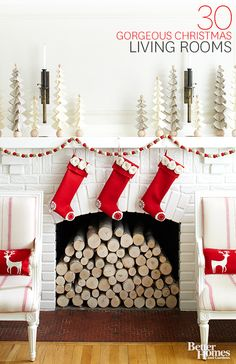 Keep your living room comfortable and family-friendly this holiday season by mxing new and old fabric-wrapped details: http://www.bhg.com/christmas/indoor-decorating/pretty-christmas-living-rooms/?socsrc=bhgpin101114usefabricdetails&page=2