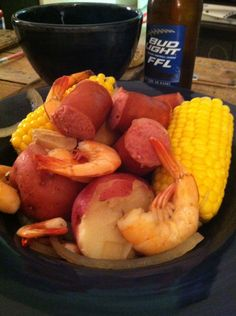 Crockpot shrimp boil. Frogmore's stew here in the low country! Yummm keep in mind for later… low country boil is what we are having for thanksgiving!!!!