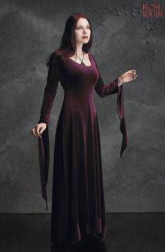 Morgana Velvet Fairy Gown - Custom Elegant Gothic Clothing and Dark Romantic Couture. via Etsy. ( Get your goth on with gothic punk clothing - a favorite repin of www.vipfashionaustralia.com )