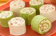 Trisha Yearwood Cream Cheese Roll Ups - bacon, cream cheese, salsa = yum.