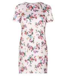 Pink Floral Print Pocket Tunic Dress tunic dress