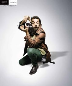 All the functions of a pro in a small package. Sony Camera. Advertising Agency: Saatchi & Saatchi, Sydney, Australia