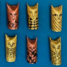 Learn to make Egyptian CANOPIC JARS using recycled toilet paper rolls!