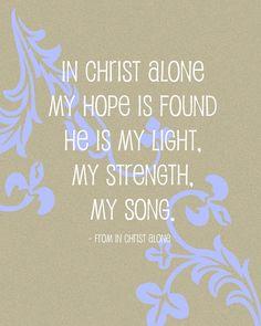 hope. light. strength. my song.
