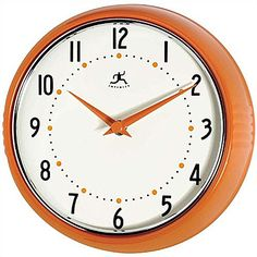 Hang a retro wall clock over above a breakfast nook with other fun pieces for a gallery feel. | $40