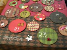 Homemade advent calendar