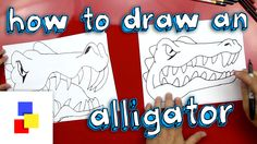 Fun steps on how to draw a cool alligator, for kids!