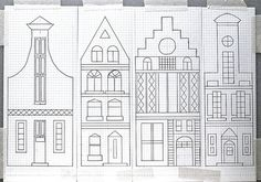Drawing Canal Houses on Graph Paper