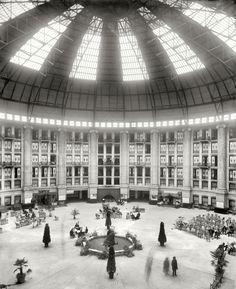 "West Baden, Indiana, circa 1903. ""The atrium, West Baden Springs Hotel"