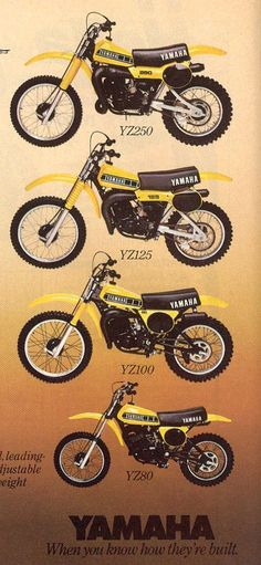 1979 Yamaha YZ Line-Up
